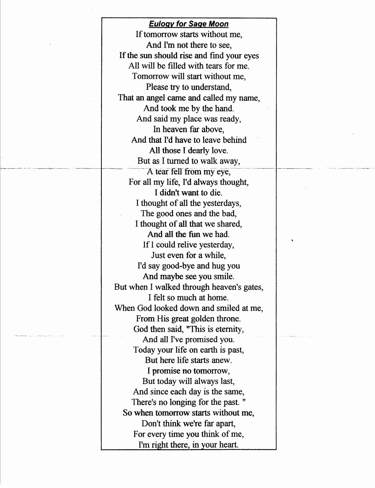 Short Simple Eulogy Examples Awesome Eulogy for Mother Quotes Quotesgram