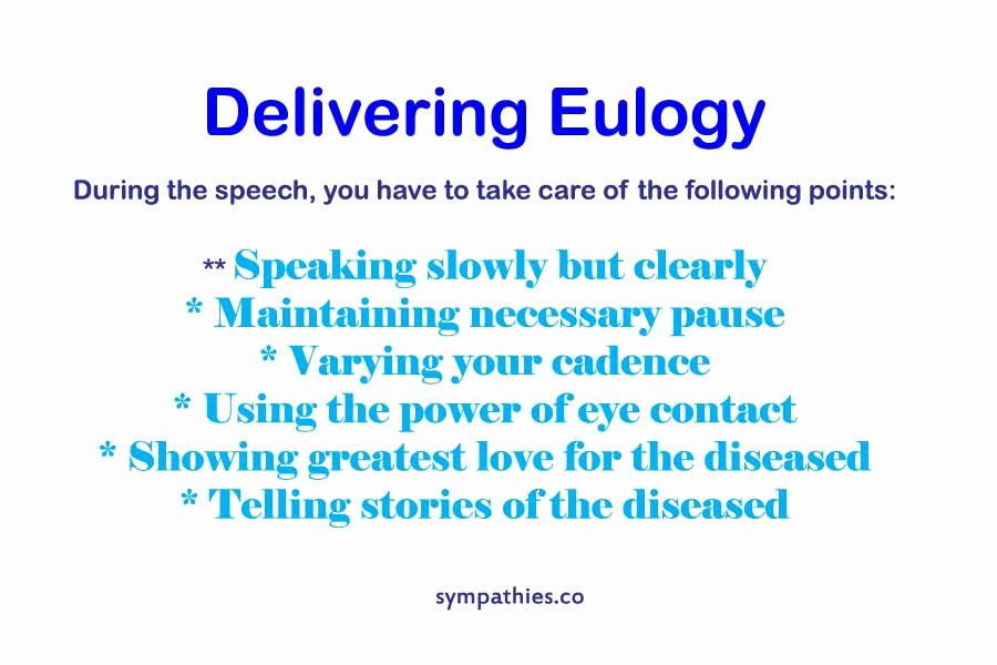 eulogy definition format examples