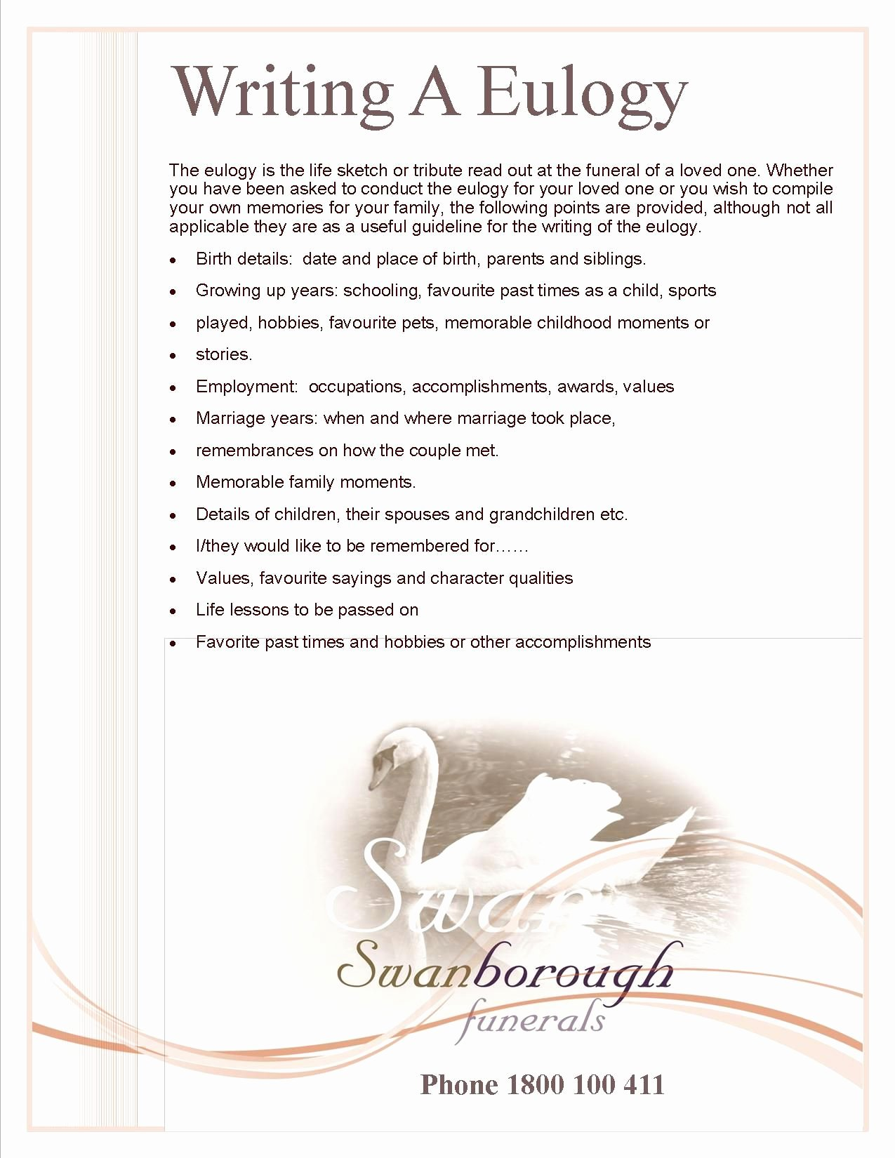 Short Simple Eulogy Examples Lovely How to Write A Eulogy Funeral Ideas