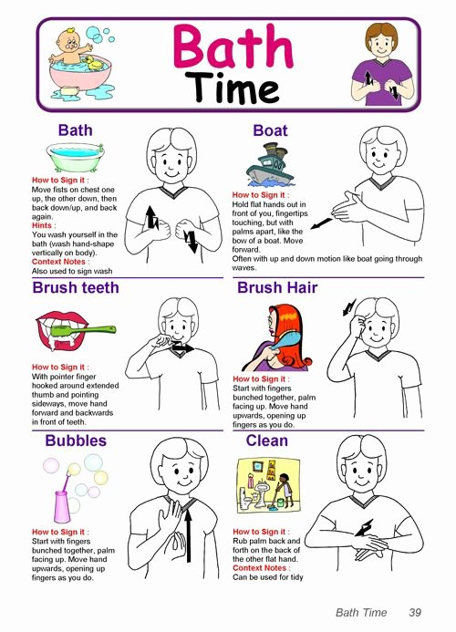 Sign Language for toddlers Chart Awesome Baby Sign Language Chart