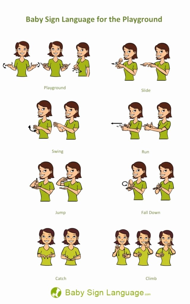 Sign Language for toddlers Chart Awesome Blog