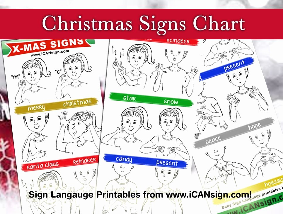 Sign Language for toddlers Chart Awesome This Holiday Season Use these Mon asl Christmas Signs