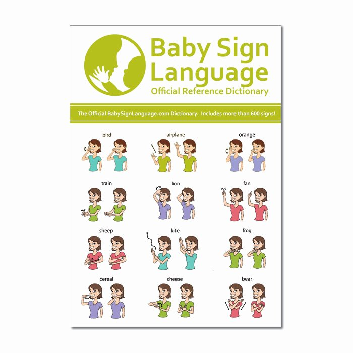 Sign Language for toddlers Chart Elegant Baby Sign Language Dictionary