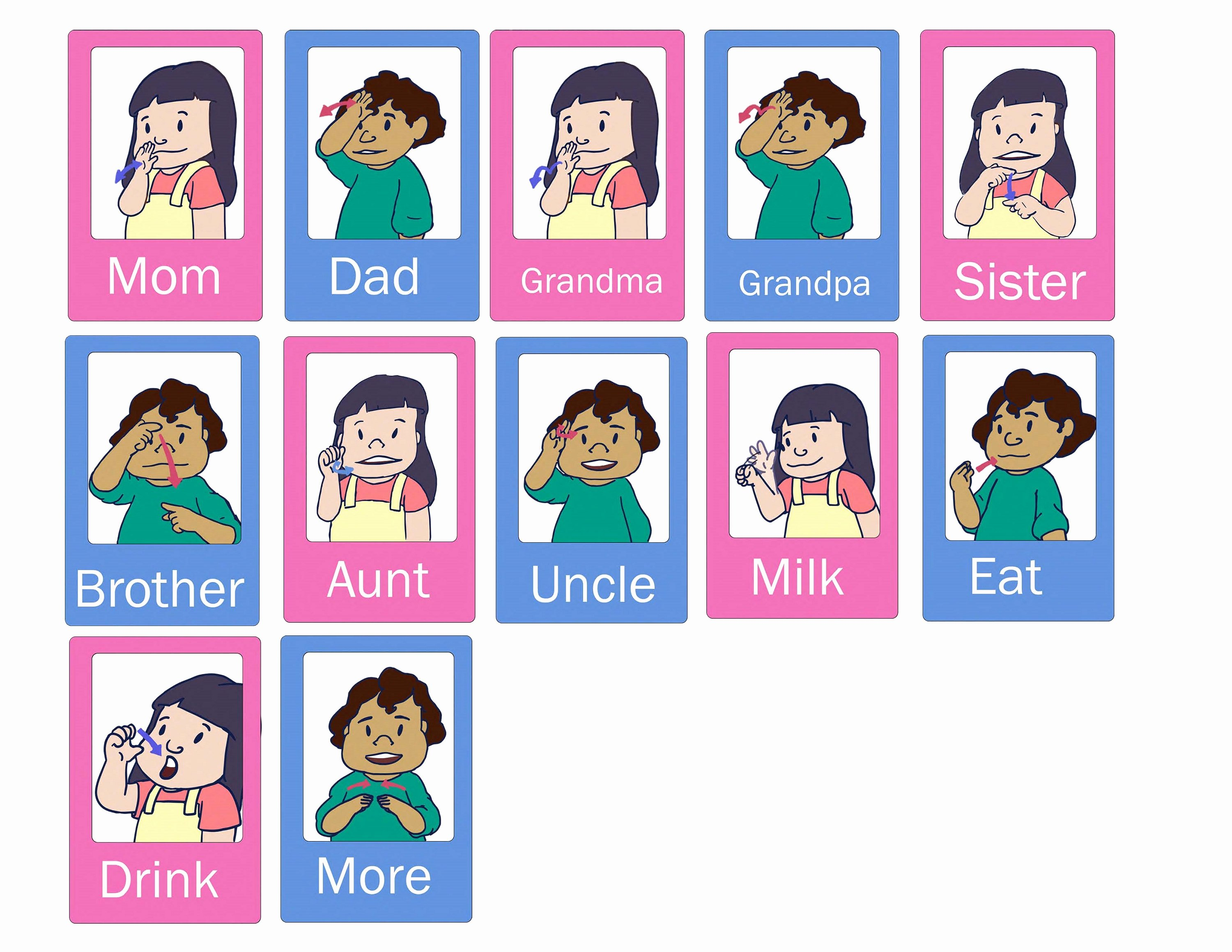 Sign Language for toddlers Chart Luxury Baby Sign Language Chart Colorful