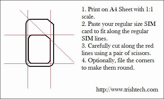 Sim Card Cut Template Awesome How to Cut Regular Sim Card Into Micro Sim Size