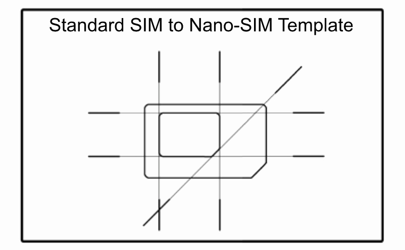 Sim Card Cut Template Beautiful Scio Sphere Diy Nano Sim to Regular Size Sim Adapter