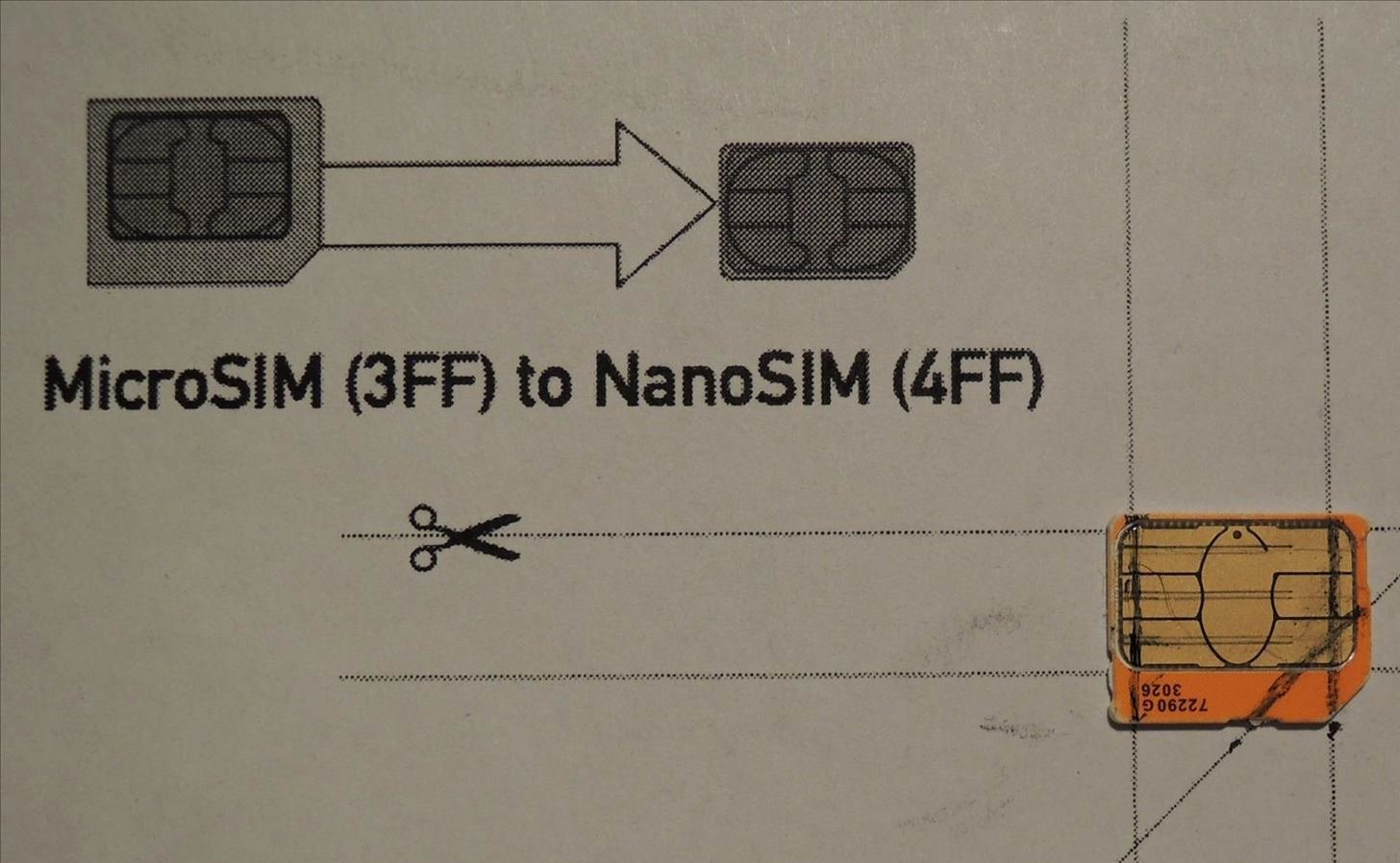 Sim Card Cut Template Elegant How to Convert A Micro Sim Card to Fit the Nano Slot On