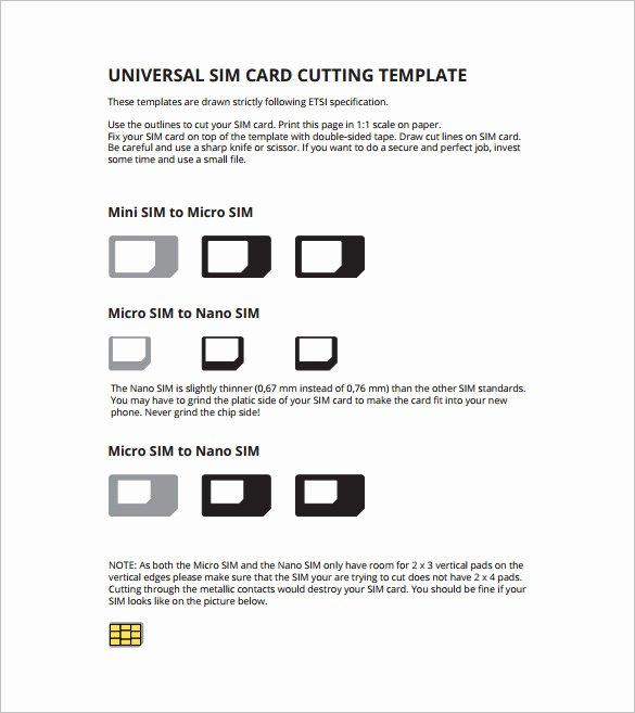Sim Card Cut Template Lovely Micro Sim Card Template 12 Free Printable Sample