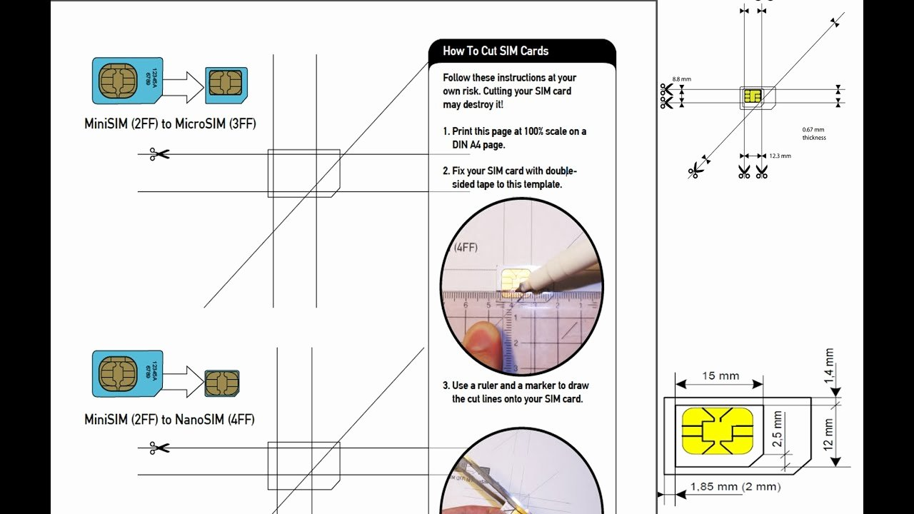 Sim Card Cut Template New How to Cut Your Sim Card Micro Sim Nano Sim iPhone 5s