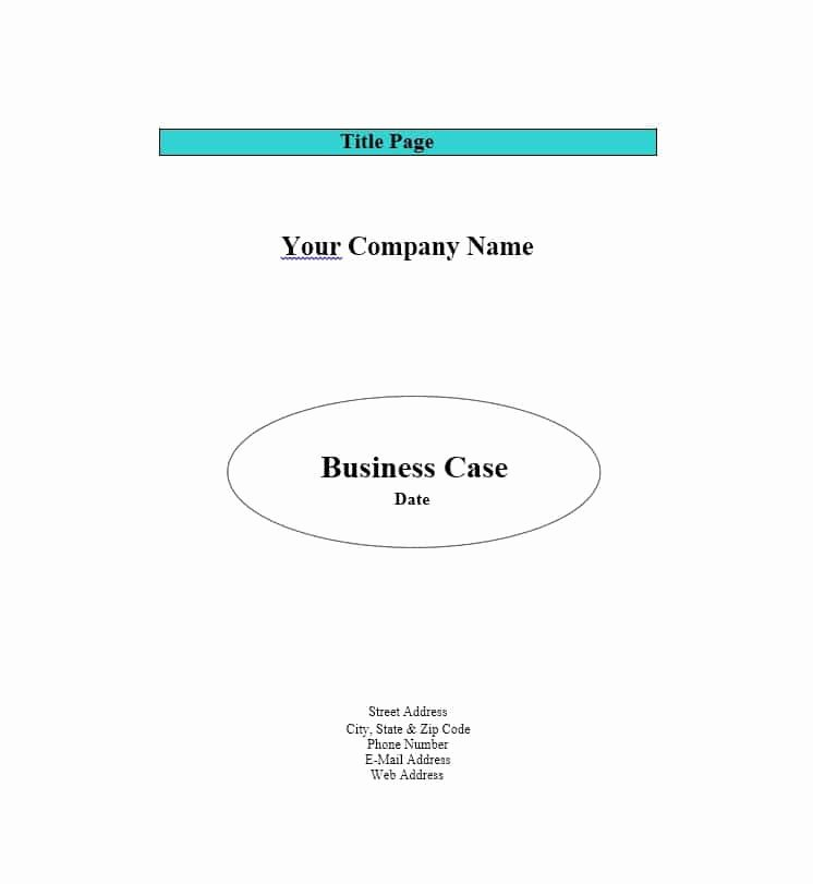 Simple Business Case Examples Elegant 30 Simple Business Case Templates & Examples Template Lab