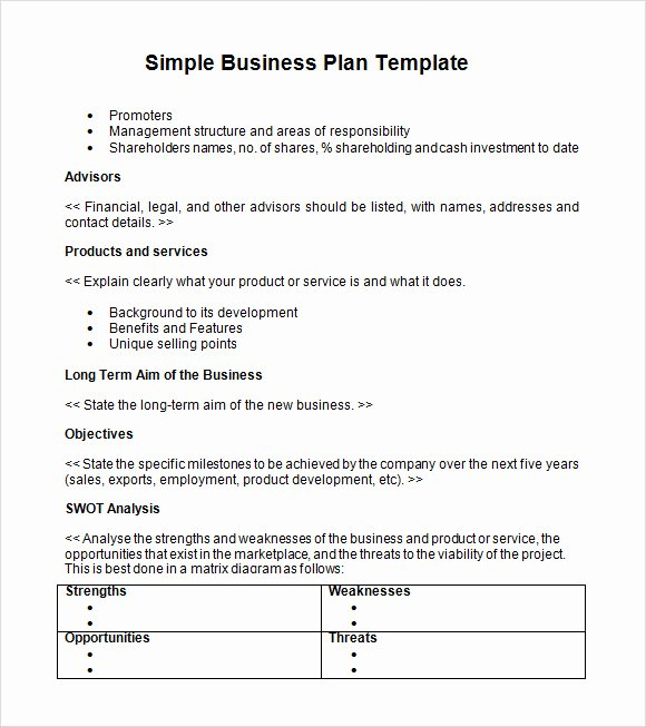 Simple Business Case Examples Inspirational Free 21 Simple Business Plan Templates In Pdf Word