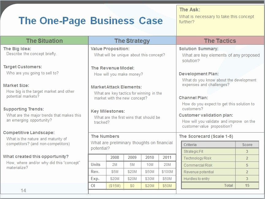 Simple Business Case Examples Lovely Business Case One Page Template One Page Business Case