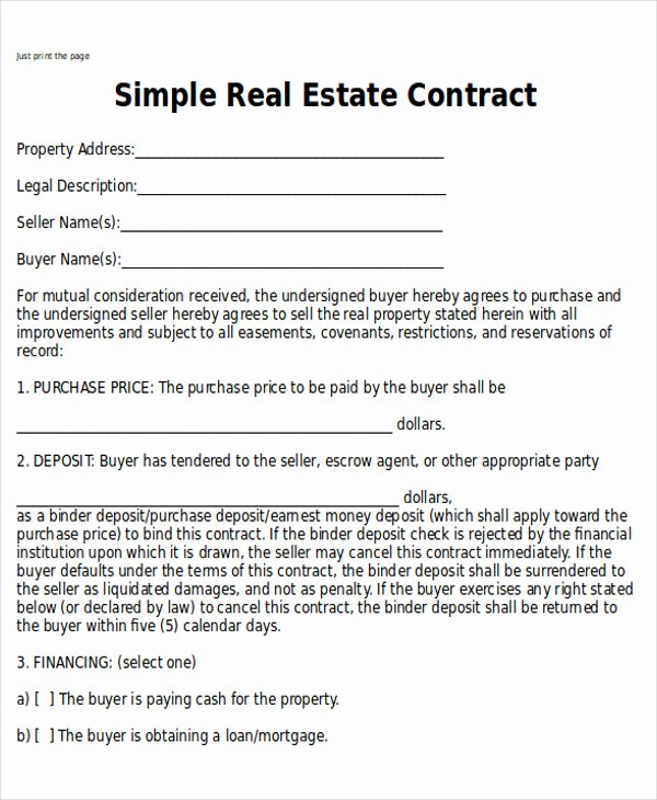 Simple Buy Sell Agreement form Awesome Sample Home Sales Contracts 7 Examples In Word Pdf