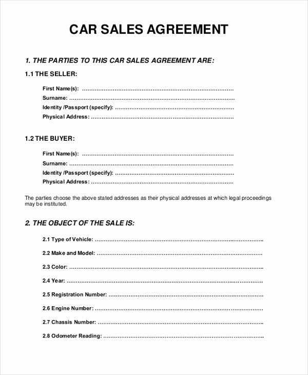 Simple Buy Sell Agreement form Best Of Sample Sales Agreement form 10 Free Documents In Pdf Doc