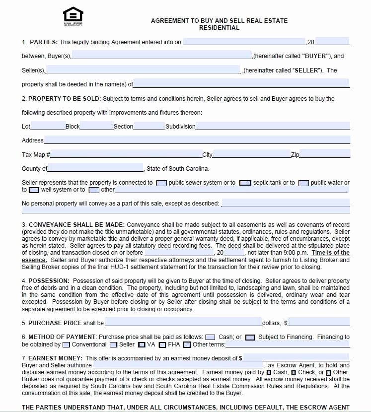 Simple Buy Sell Agreement form New Simple Real Estate Purchase Agreement Pdf Quick Free Real
