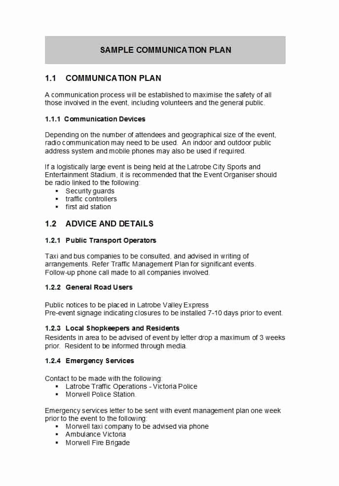 Simple Communications Plan Template Inspirational 37 Simple Munication Plan Examples Free Templates