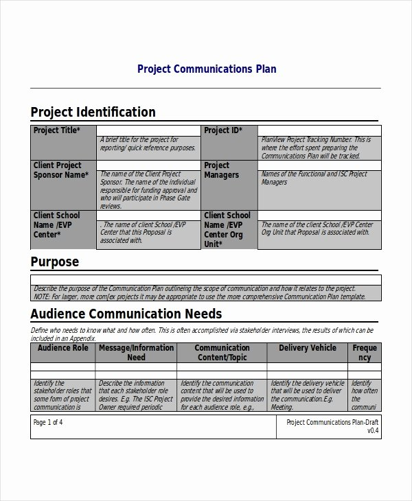 Simple Communications Plan Template Lovely Project Plan Template 17 Free Word Pdf Document