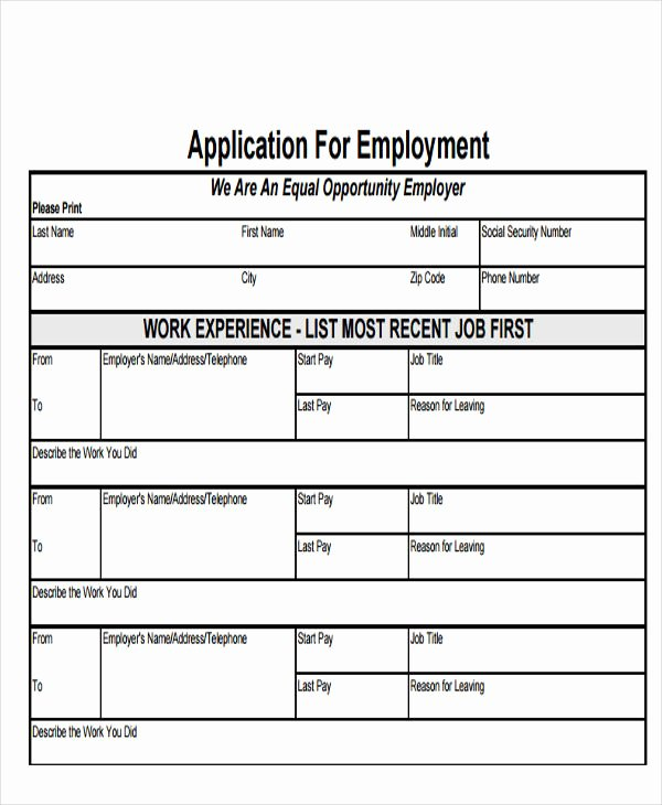 Simple Job Application Awesome 49 Job Application form Templates