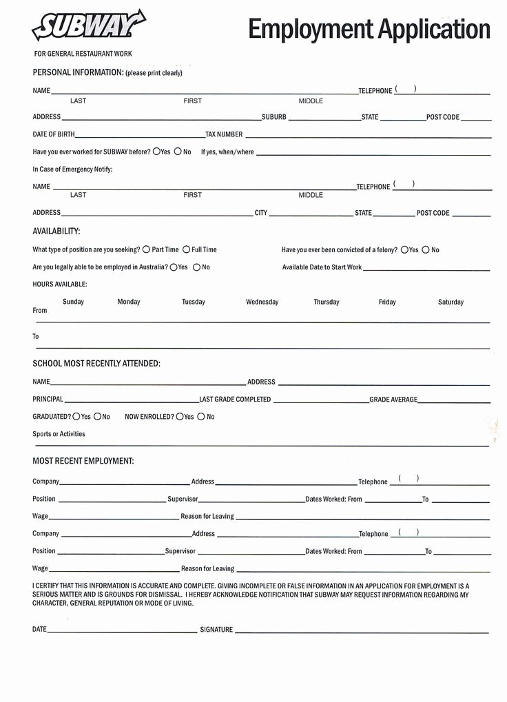 Simple Job Application Awesome 5 Example Of Job Application form