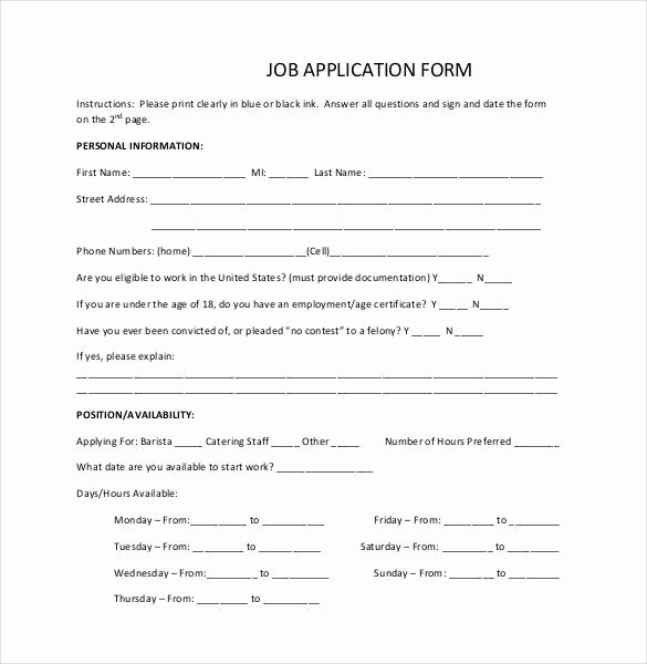 Simple Job Application Best Of Job Application Template 19 Examples In Pdf Word