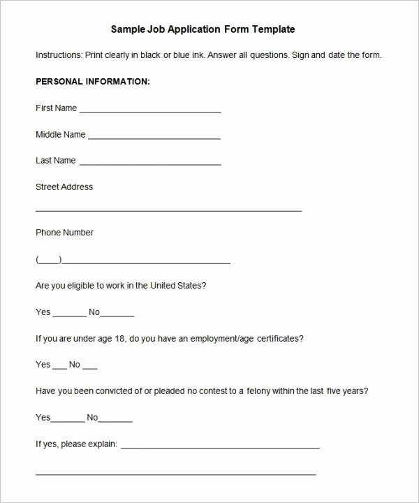 Simple Job Application Unique Job Application Template 19 Examples In Pdf Word