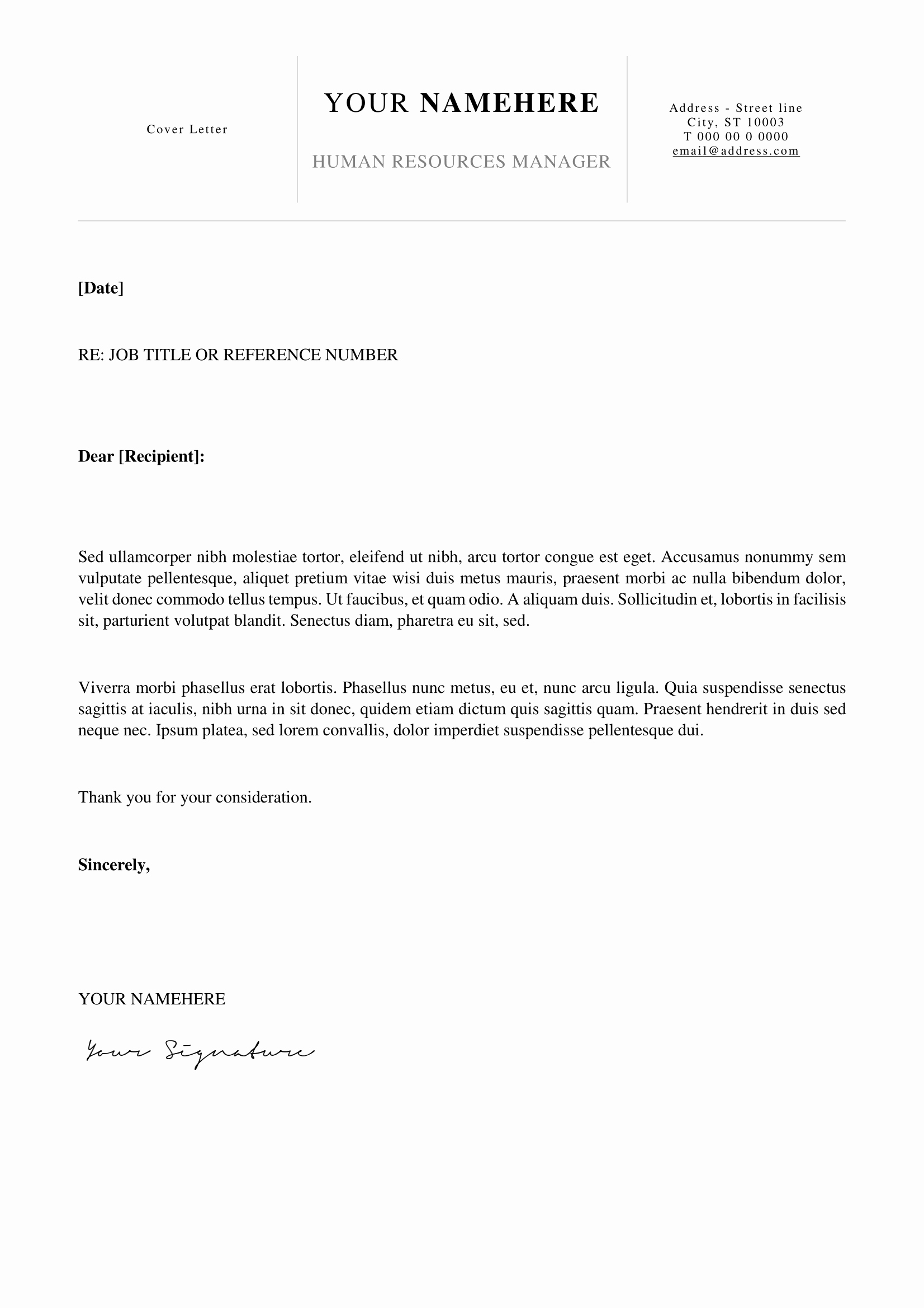 Simple Job Cover Letter Examples Lovely Kallio Free Simple Cover Letter Template for Word Docx