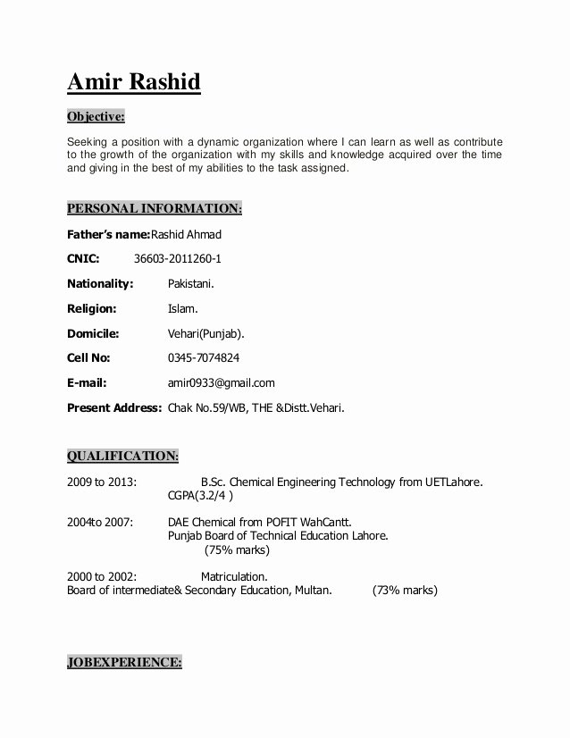 Simple Objective for Resume Inspirational Simple Resume