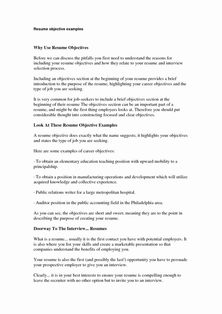 Simple Objective for Resume Lovely top 25 Best Basic Resume Examples Ideas On Pinterest
