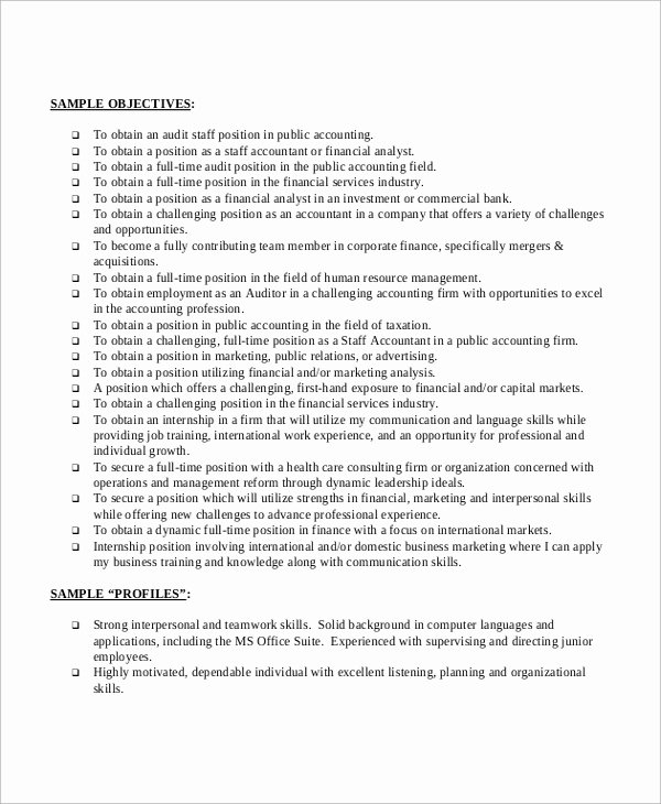 Simple Objective for Resume Luxury Basic Resume Sample 8 Examples In Pdf Word