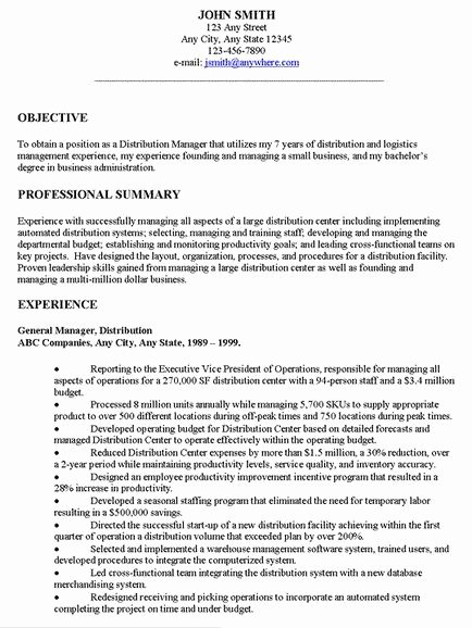 Simple Objective for Resume Unique Examples Resume General Objectives
