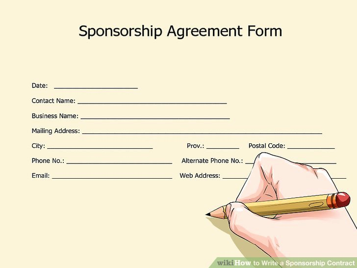 Simple Sponsorship Agreement Template Luxury How to Write A Sponsorship Contract with Wikihow