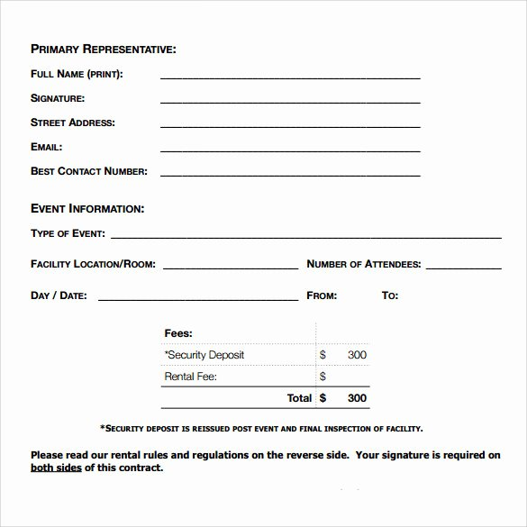 Simple Vehicle Lease Agreement Awesome Blank Rental Agreement – 7 Free Samples Examples & formats