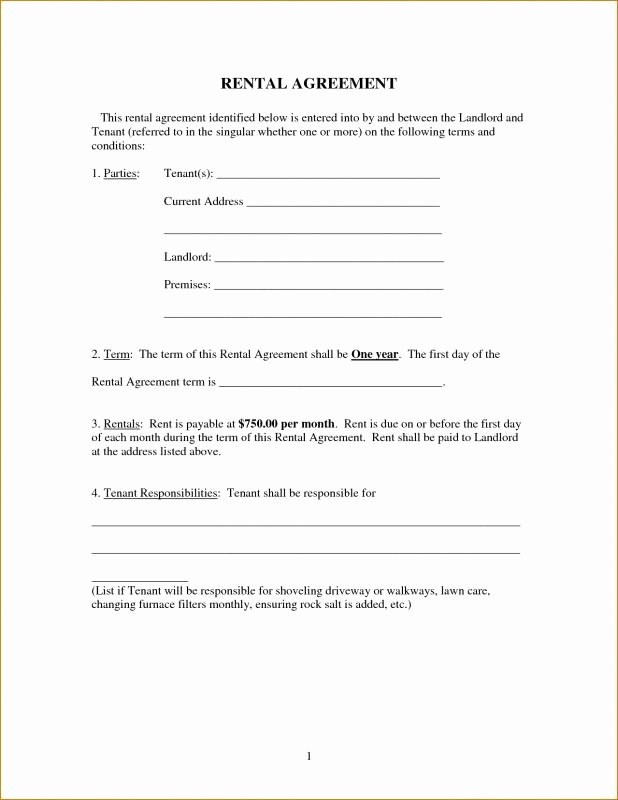 Simple Vehicle Lease Agreement Awesome Free Printable Basic Rental Agreement