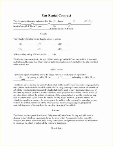 Simple Vehicle Lease Agreement Fresh 10 Car Rental Agreement Examples Pdf Word
