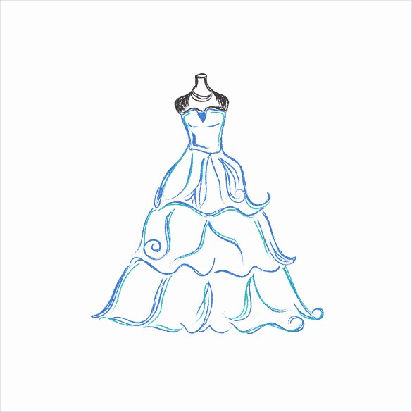 Simple Wedding Dress Patterns Beautiful Simple Dress Drawing at Getdrawings