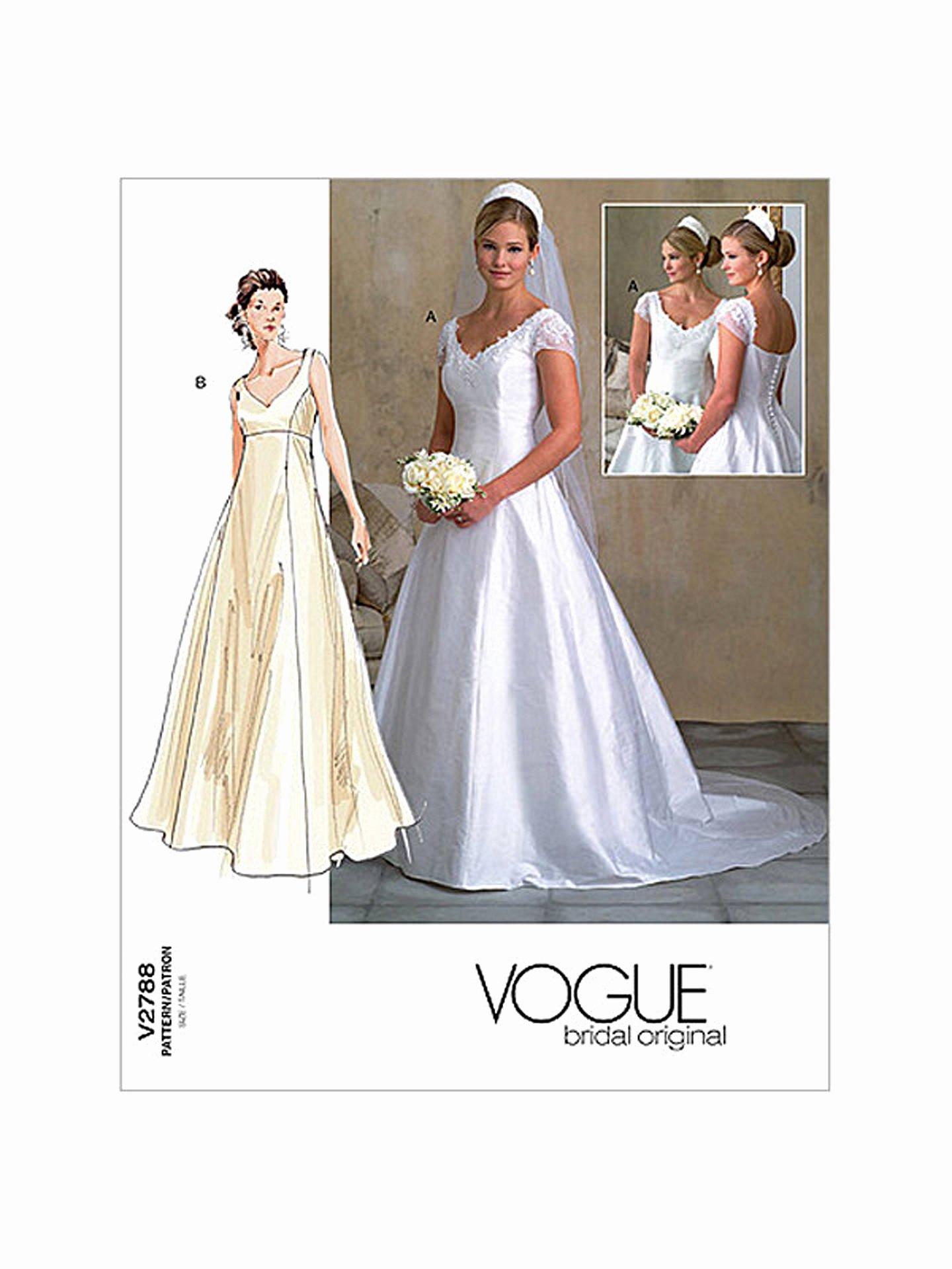 Simple Wedding Dress Patterns Beautiful Vogue Women S Bridal Gown Sewing Pattern 2788 at John