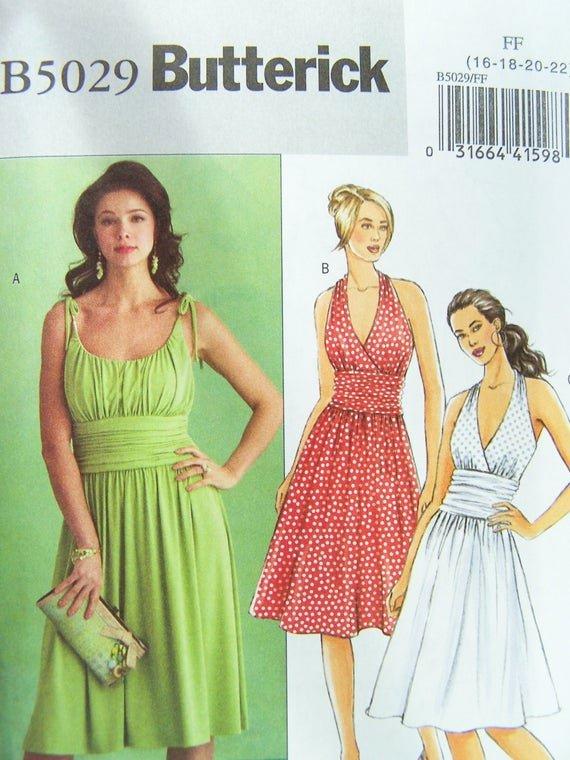 Simple Wedding Dress Patterns Elegant butterick B5029 Sewing Pattern Women S Gathered Bodice