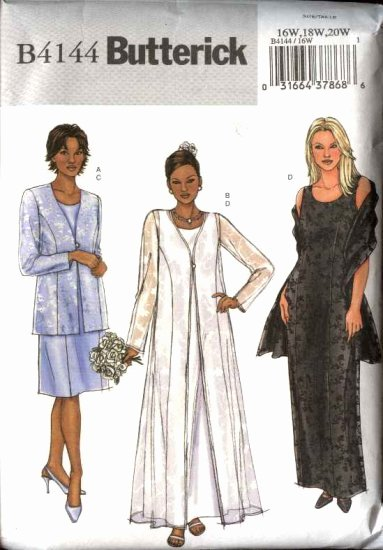 Simple Wedding Dress Patterns Inspirational butterick Sewing Pattern 4144 Womans Plus Size 16w 20w