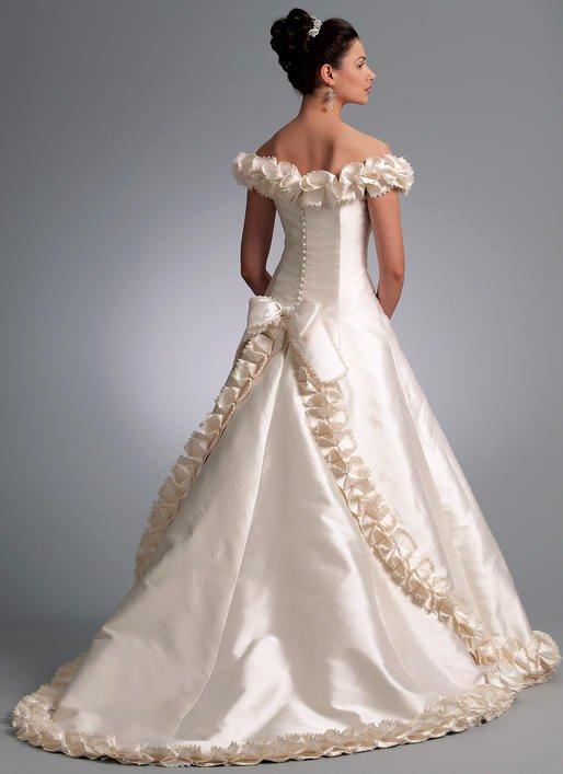 Simple Wedding Dress Patterns Lovely V1095