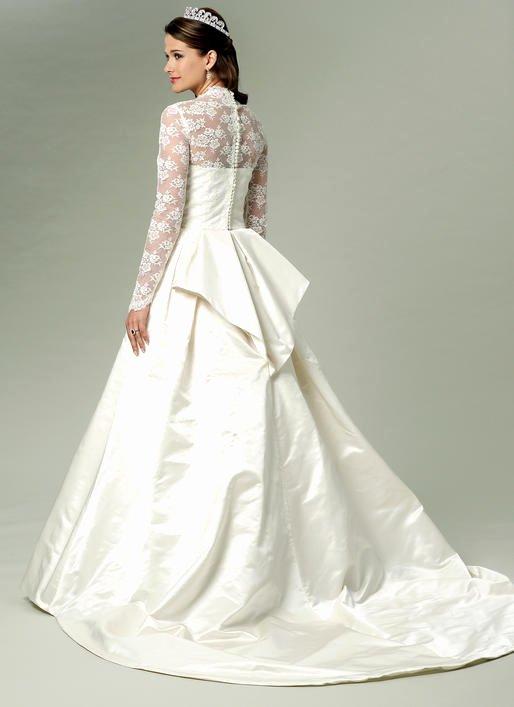 Simple Wedding Dress Patterns Unique B5731