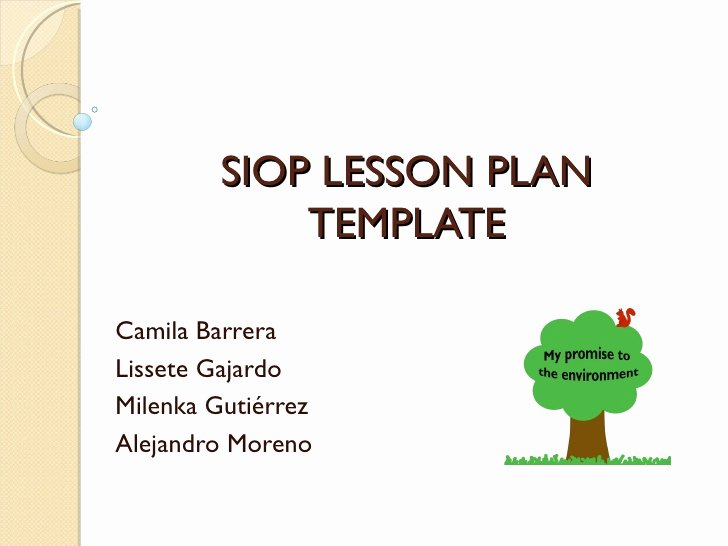 Siop Lesson Plan Templates Best Of Hands On Activity Presentation Siop Lesson Plan Template