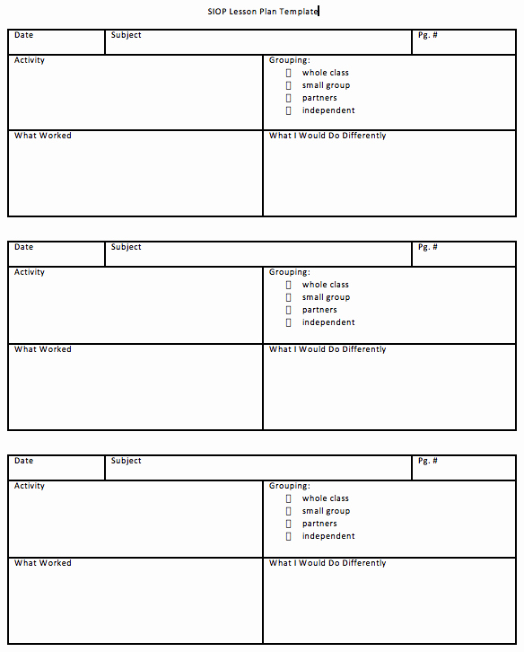 Siop Model Lesson Plan Fresh Download Siop Lesson Plan Template 1 2