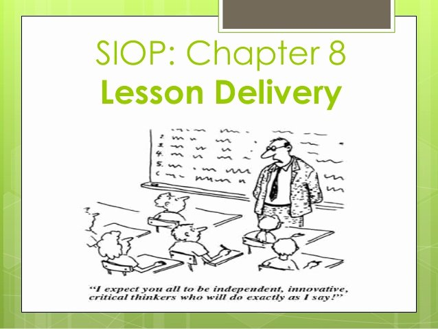 Siop Model Lesson Plan Lovely Siop Model Features for Lesson Delivery