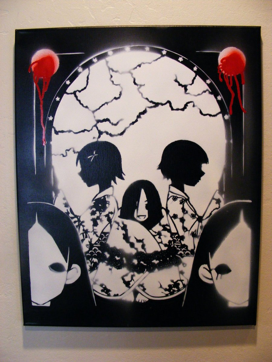 Skull Stencil for Spray Paint Awesome Anime Skull Spray Paint Stencil Art On Canvas by