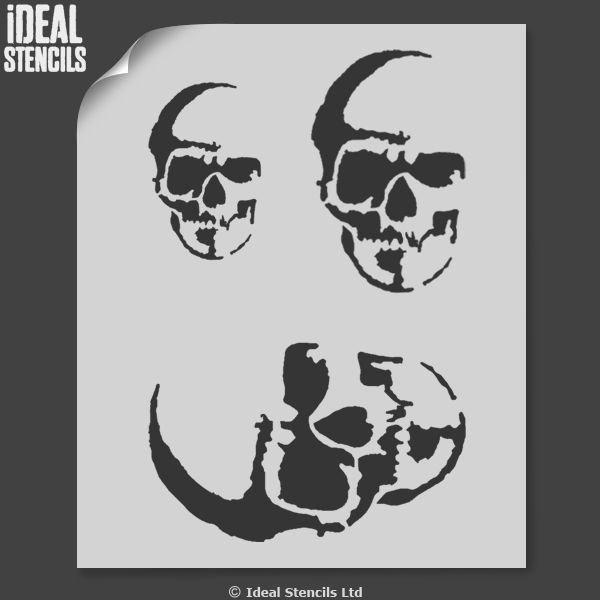 Skull Stencil for Spray Paint Best Of Halloween Human Skull Stencil Ideal Stencils
