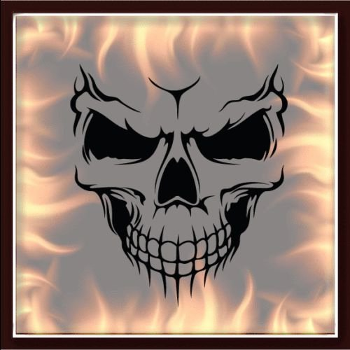 Skull Stencil for Spray Paint Best Of Skull 325 Airbrush Stencil Template Motorcycle Chopper