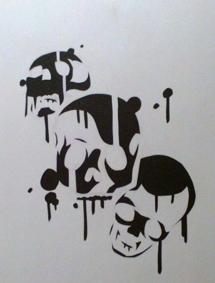 Skull Stencil for Spray Paint Inspirational 19 Best Stencil Street Art Images On Pinterest