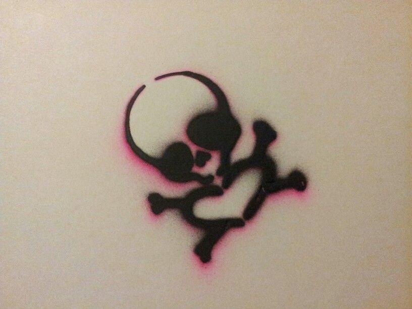 Skull Stencil for Spray Paint Inspirational Skull Crossbones Heart Stencil