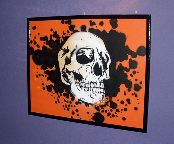 Skull Stencil for Spray Paint Lovely Skull Splash Stencil Spray On Wood Panel On Behance