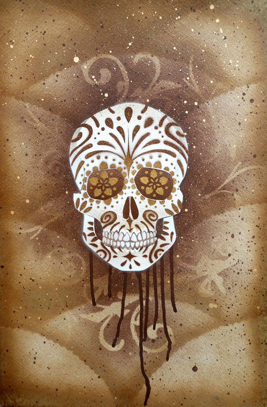 Skull Stencil for Spray Paint Lovely Sugar Skull Stencil Print 3 by Darcydoll On Deviantart